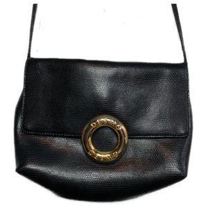 Vintage Desmo Black Textured Crossbody Bag